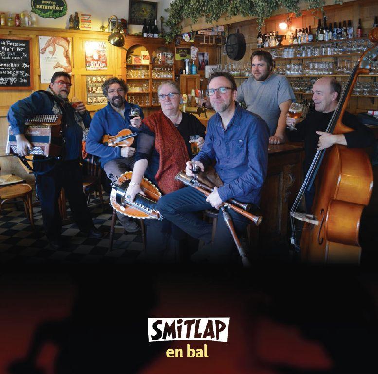 Couverture du livret du CD de Smitlap en bal, live in Bollezeele